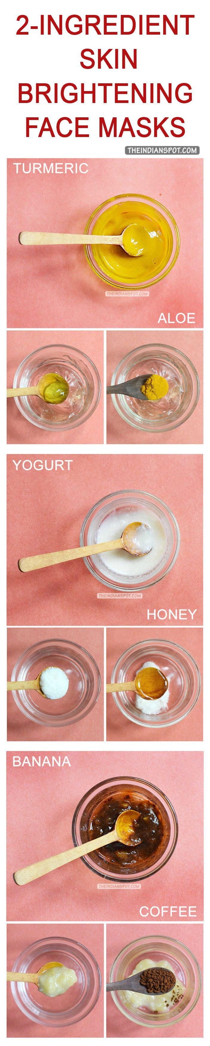 Easy DIY Natural skin brightening masks
