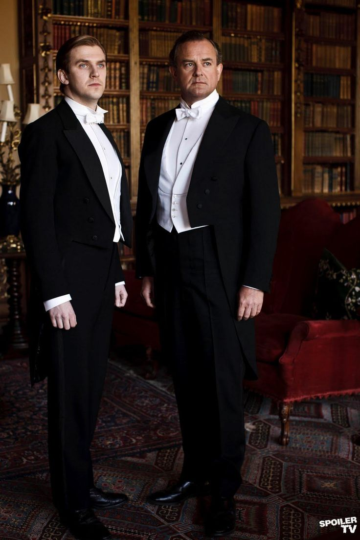 DOWNTON ABBEY Robert, Earl of Grantham & Matthew Crawley
