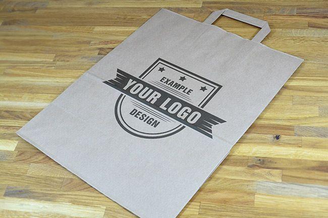 Folded Paper Bag Mockup Template - Mediamodifier - Online mockup generator