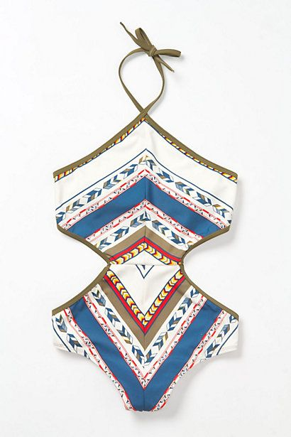 Sculpted MaillotAnthropologie Bath Suits, Fashion, Bathing Suits, Style, Maillot Swimsuits, Shore Roads, One Piece, Tribal Prints, Sculpting Maillot