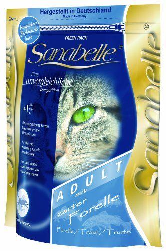 Aus der Kategorie Sanabelle  gibt es, zum Preis von EUR 36,49  Alleinfuttermittel für ausgewachsene Katzen (Indoor) Sanabelle Adult mit zarter Forelle ist eine bekömmliche und schmackhafte Vollnahrung zur bedarfsgerechten Ernährung ausgewachsener Katzen, vor...