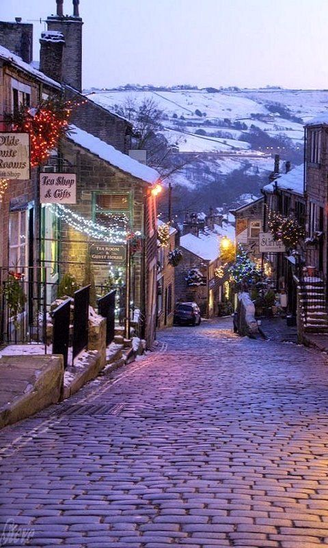 Haworth on Christmas Day, West Yorkshire, England (by Steve Swis on Flickr) so want to see this in person!!!