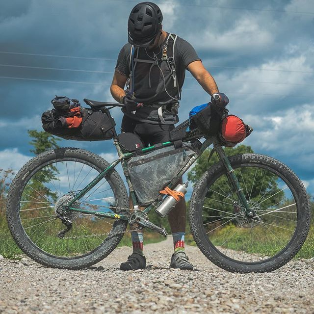 Meet @milesarbour and his Surly Krampus, the tool that helped him accomplish the Central Ontario Loop Trail. Hit our profile link for his Readers Rig. . . . . #bikepacking #Bikepacker #readersrig #stealisreal #surly #krampus #biketravel #camping #liveloaded #rideloaded