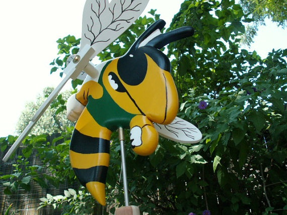Well this is a must have for every Hornet fan!! Yellowjacket Whirligig Hornet Bee Garden Decor or by JHWoodcraft, $40.00
