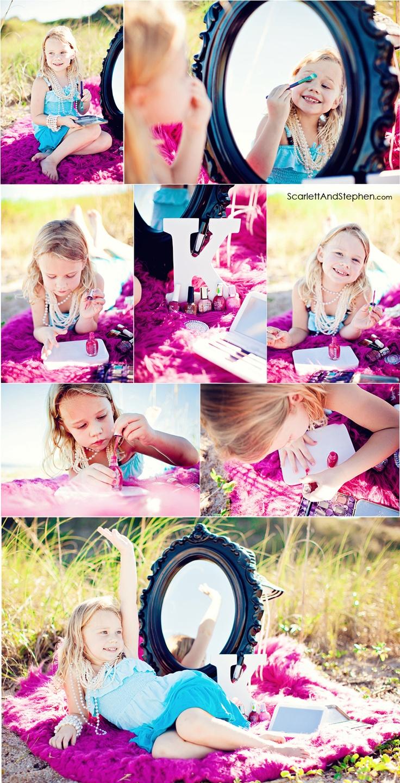 Little girl make-up & manicures themed photoshoot by Scarlett & Stephen. http://scarlettlovesstephen.com