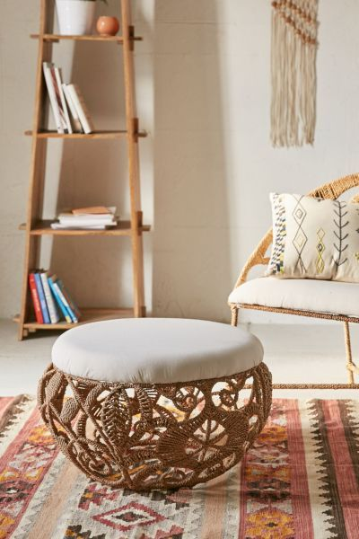 Rope Lace Tiara Ottoman - Urban Outfitters