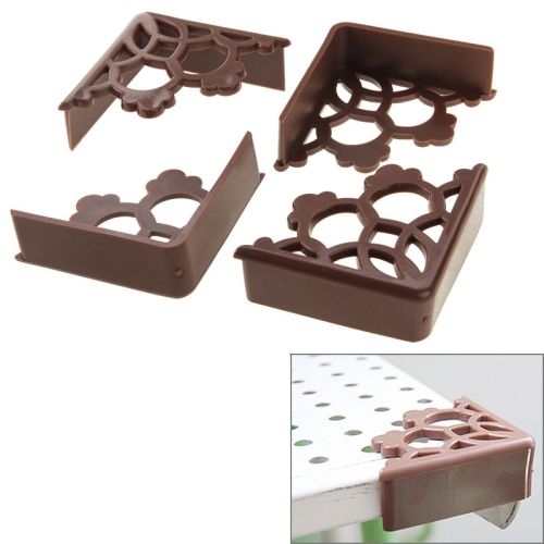 [$1.17] PVC Material Lacery Corner Protective Cover, Pack of 4(Brown)