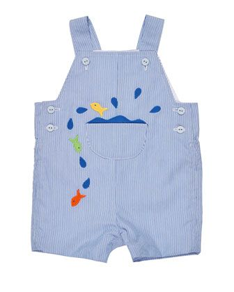 Corduroy+Fish+Overalls,+Blue,+Size+3-24+Months+by+Florence+Eiseman+at+Neiman+Marcus.