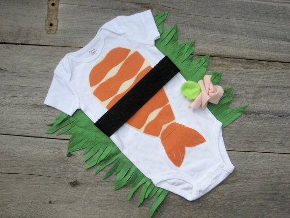 Baby Halloween Costume Funny Sushi Photo by TheWishingElephant, $48.00