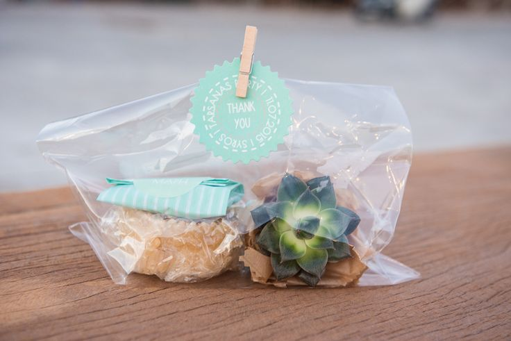 TARSANAS WEDDING PARTY-SYROS wedding favour  'cactus' flower Cretan honeyed 'xerotigano' pastry bonbons  initial labels thank you tag  | lafete