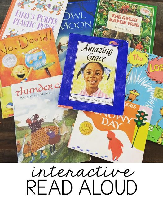 Books and lessons for interactive read aloud in grades K-2!