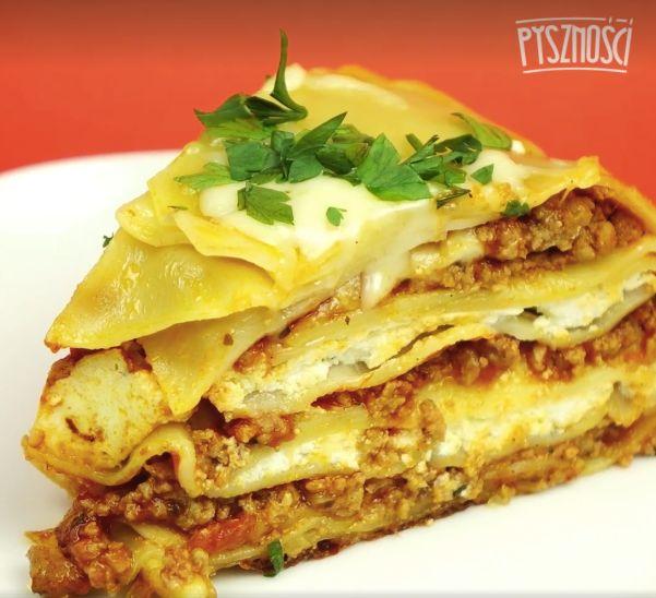 Lasagne w formie babki