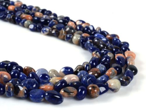 Natural-gemstone-Pebble-Chips-loose-beads-16-Amazonite-Charoite-agate-Larimar