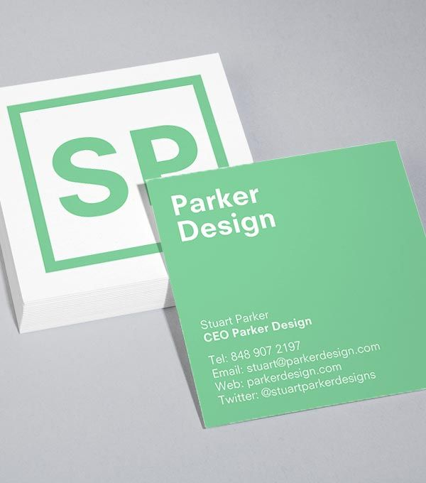MOO | Initially Speaking Square Business Card Design Templates