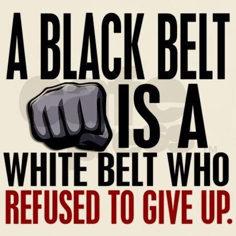 Refused To Give Up Black Belt Light T-Shirt