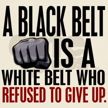 Refused To Give Up Black Belt Light T-Shirt