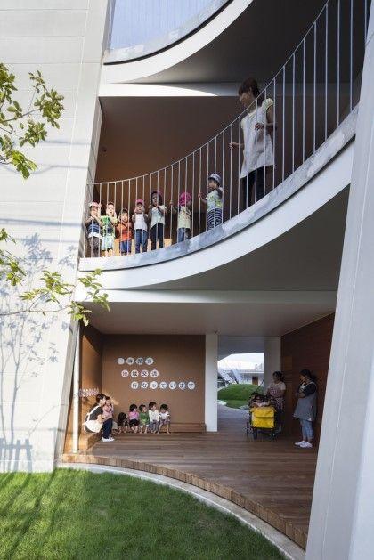 해외 유치원 인테리어 AMANENOMORI 유치원 이 곳은 일본에 위치해 있으며, 식...