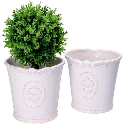 Doniczka Ceramiczna Biala Oslonka Kwiaty Wazon 7371776781 Oficjalne Archiwum Allegro Planter Pots Planters