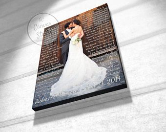 First dance lyrics lyrics canvas print your photo with