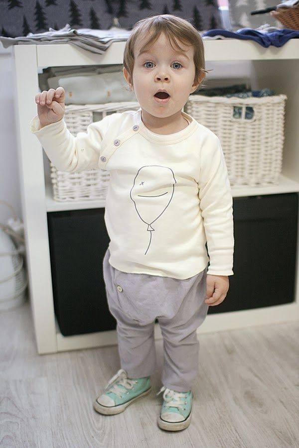 wwww.galazki.pl Organic ZOO Bye bye balloon sweatshirt Minimu chic for kids Bonnet pants