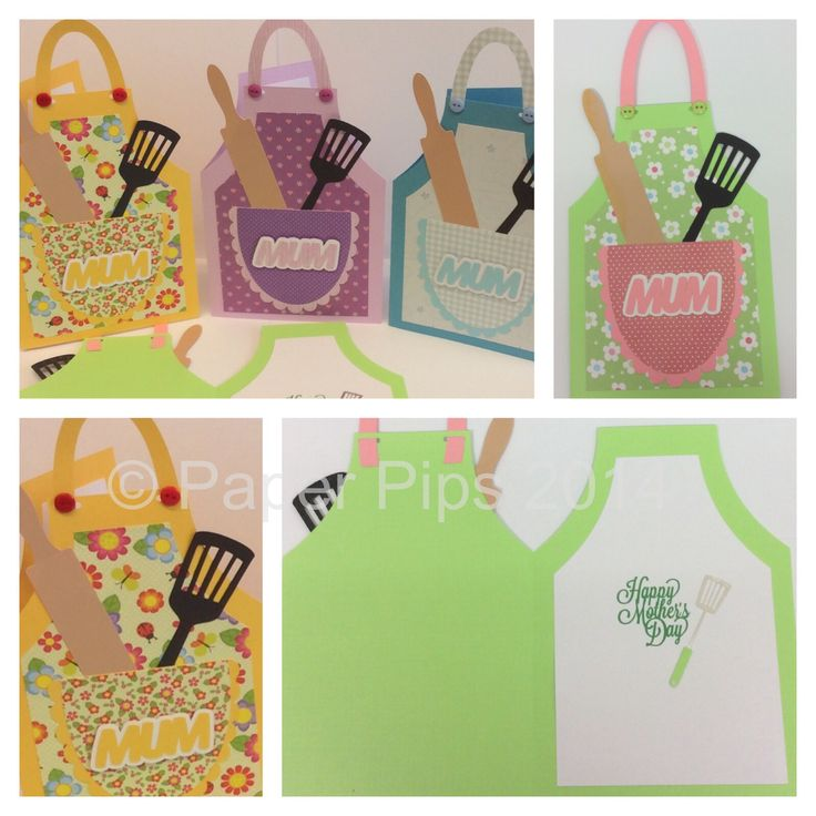 Apron Mother's Day card