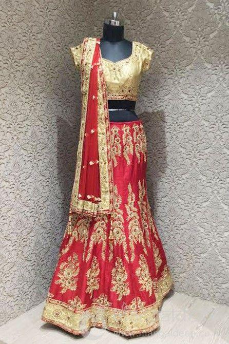 http://www.mangaldeep.co.in/lehengas/ravishing-red-gold-silk-designer-ready-made-lehenga-choli-6280 For more details contact us : +919377222211 (whatsapp available)