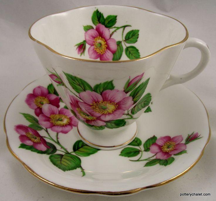 Clarence WILD ROSE Beautiful Cup and Saucer