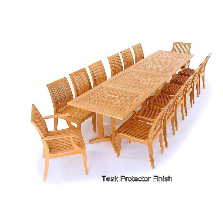 13 Pc Grand Veranda Teak Dining Set Westminster Teak Teak Furniture Set Westminster Teak Teak Outdoor