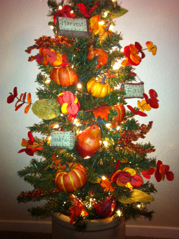 Thanksgiving Foyer Decor : Harvest tree decorate a pre lit entryway for fall