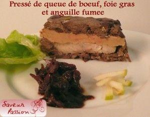 pressé de queue de boeuf foie gras et anguille fumée