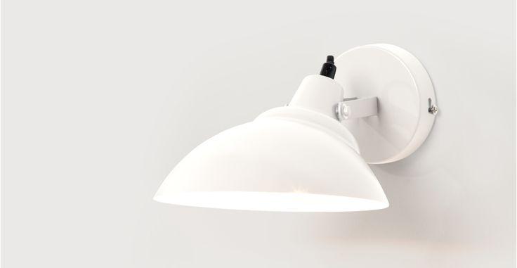 Avery Wall Light, White | made.com
