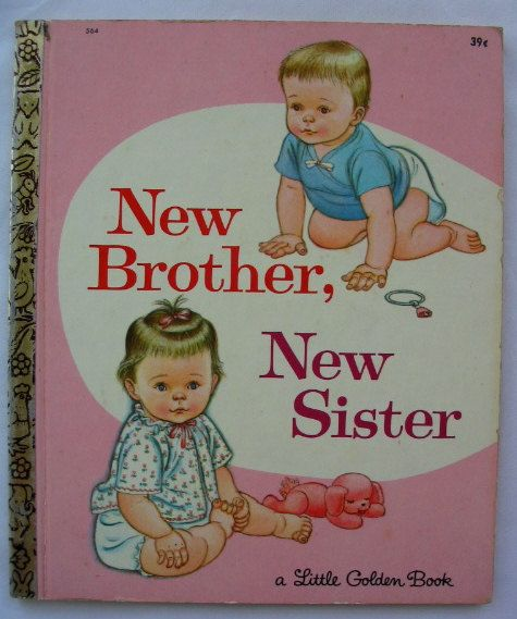 New Brother New Sister Vintage Little Golden by TheVintageRead, $8.95