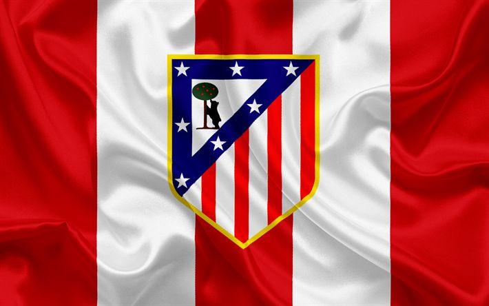 Télécharger fonds d'écran L'Atletico Madrid, club de football, l'emblème, le logo, La Liga, l'Espagne, la LFP, l'espagnol Championnats de Football