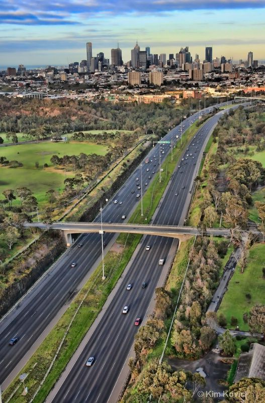 My beautiful city Melbourne Australia by Kim Andelkovic