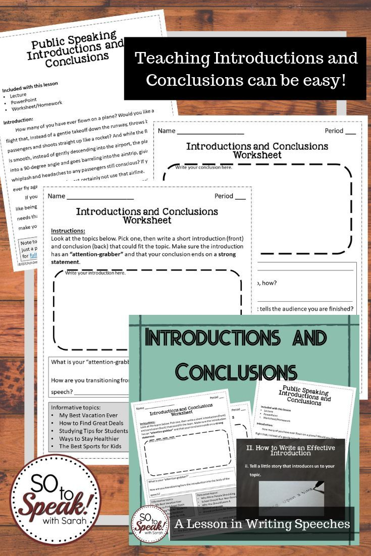 Introductions And Conclusions In Public Speaking In 2020 Public Speaking Student Teaching Good Introduction