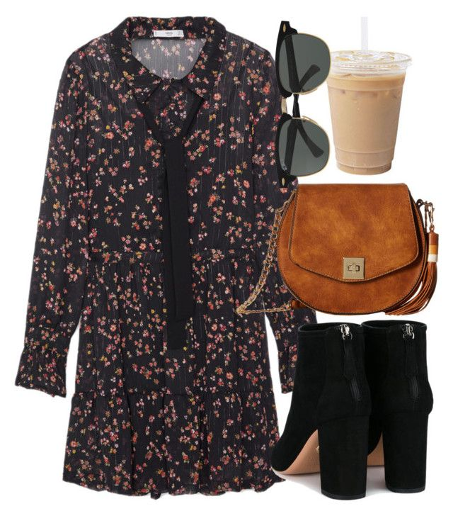 """""""Untitled #6457"""" by laurenmboot ❤ liked on Polyvore featuring MANGO, Gabriella Rocha, Aquazzura and Ray-Ban"""