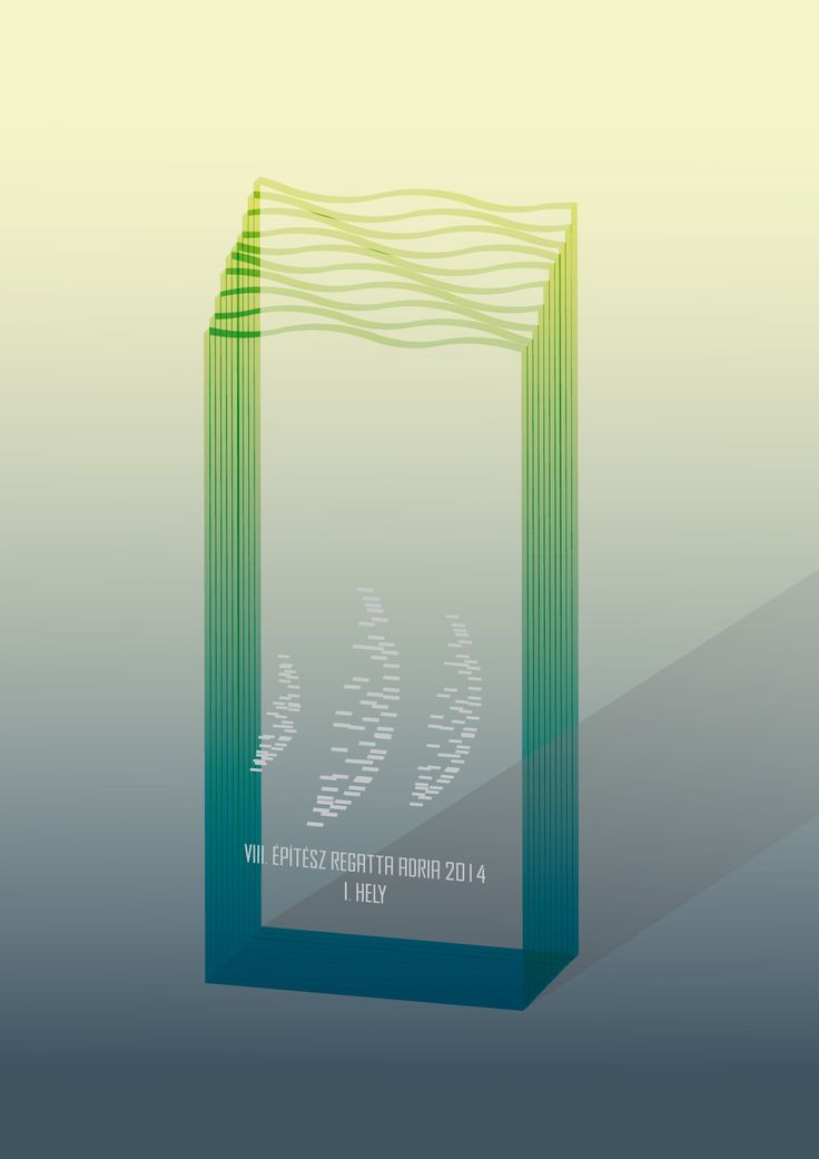 VIII. Architect Adria Regatta Prize (plan of the glass object)