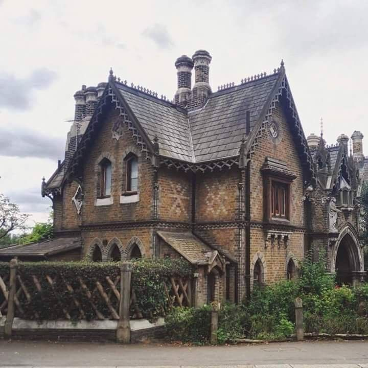 Pin By David Clark On Victorian Victorian Homes Gothic House Brick Cottage