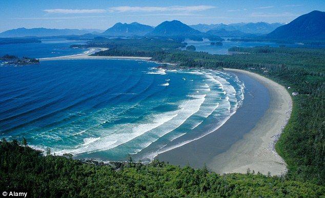 Chesterman beach, not far from Port Alberni on Vancouver Island