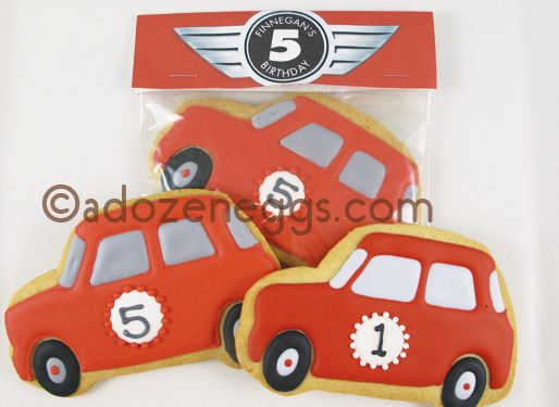 Mini Cooper cookies!!!  My favorite car on a cookie!  I have to attempt to make these!!!