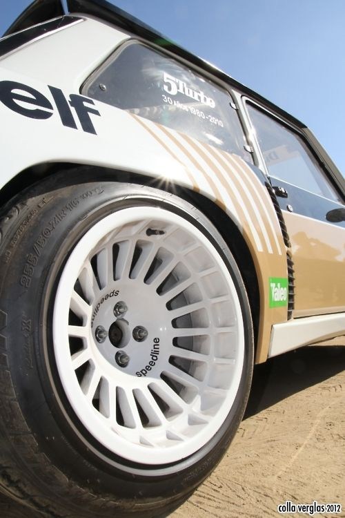Renault R5 Turbo showing off the biggest, boxiest box flares ever to exist