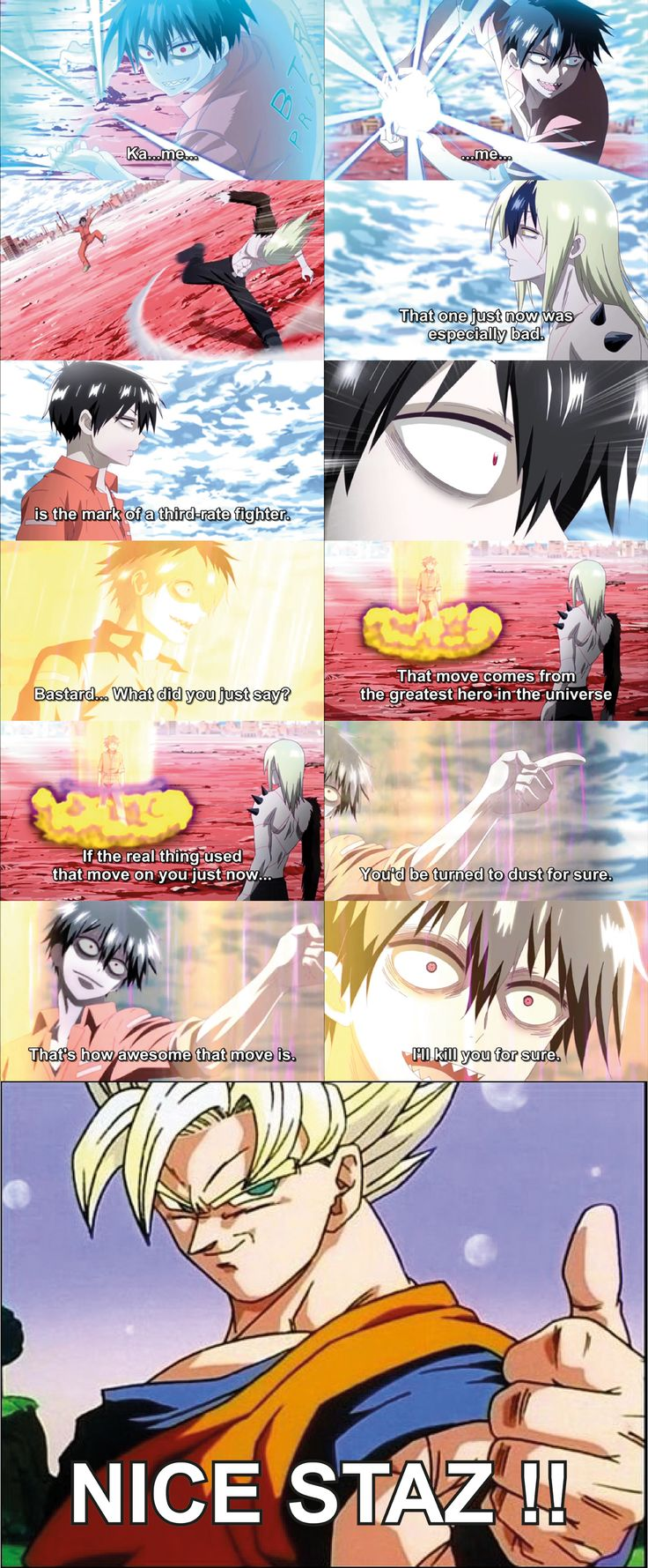 Staz Blood Lad Screenshot by Graxile.deviantart.com on @deviantART | Staz the otaku vampire. Hate on his role models near him your guaranteed to die. I LOVE THIS ANIME/MANGA!