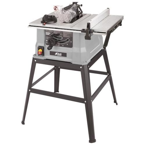 Blue Hawk Table Saw 10 In Spring Steel Blade 15 Amp Table Saw Lowes Com Table Saw Station Table Saw Spring Steel