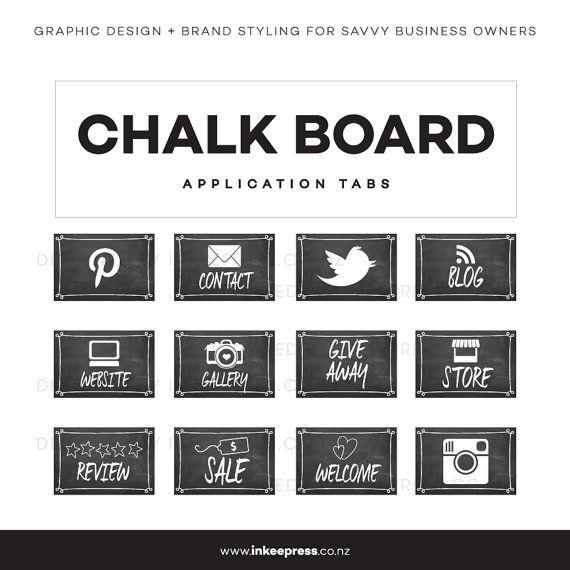 Chalk Board App Tabs by InkeePress on Etsy, $9.00