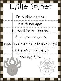 First Grade Fanatic!: Spider Poem