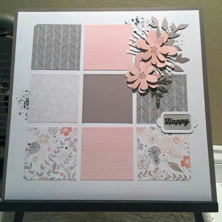 ctmh charlotte single page layout with ink blot  d1660