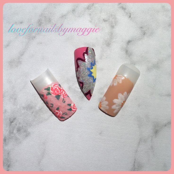 nails, nail, nail art, nail designs , flowers