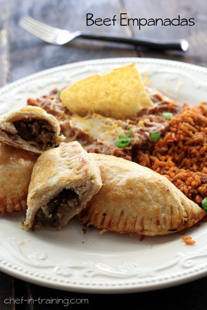 Beef Empanadas from chef-in-training.com ...A easy and delicious dinner the whole family will love! @Nikki {chef-in-training.com}