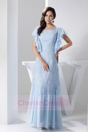 Square A-line Floor-length Dress with Lace Beading