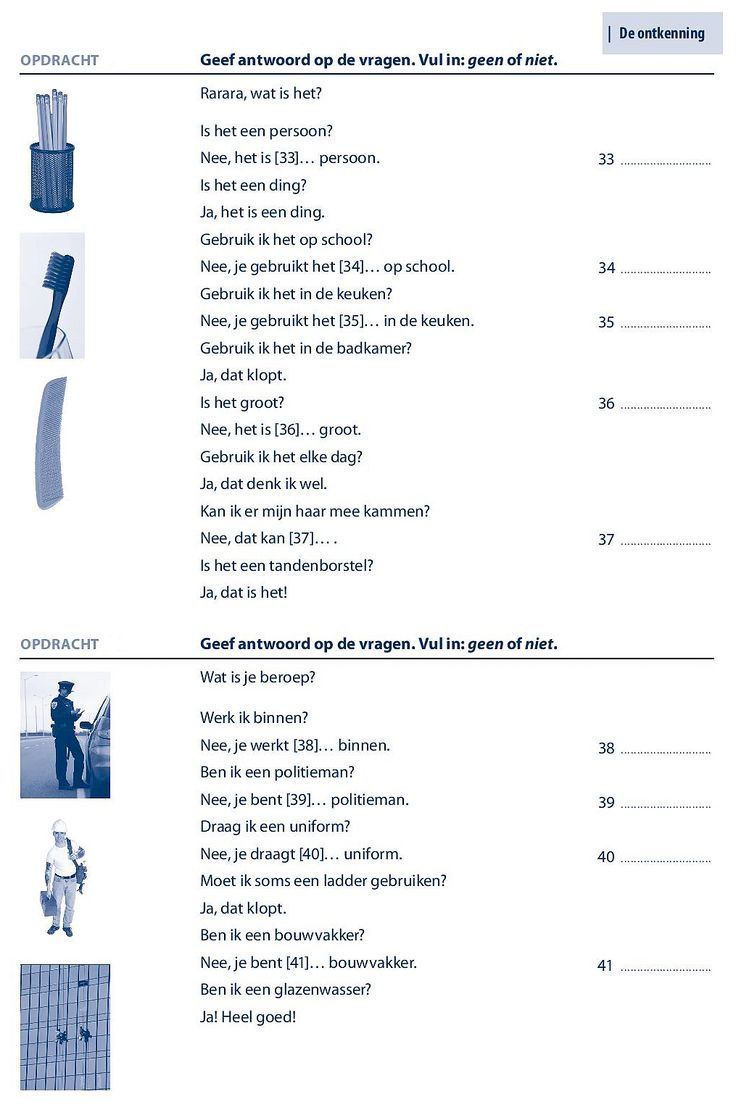 238 best nederlandse taaloefeningen exercices de n erlandais dutch exercises images on - Woonkamer ontkenning ...